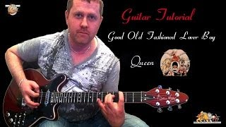 Good Old-Fashioned Lover Boy - Queen - acoustic guitar tutorial