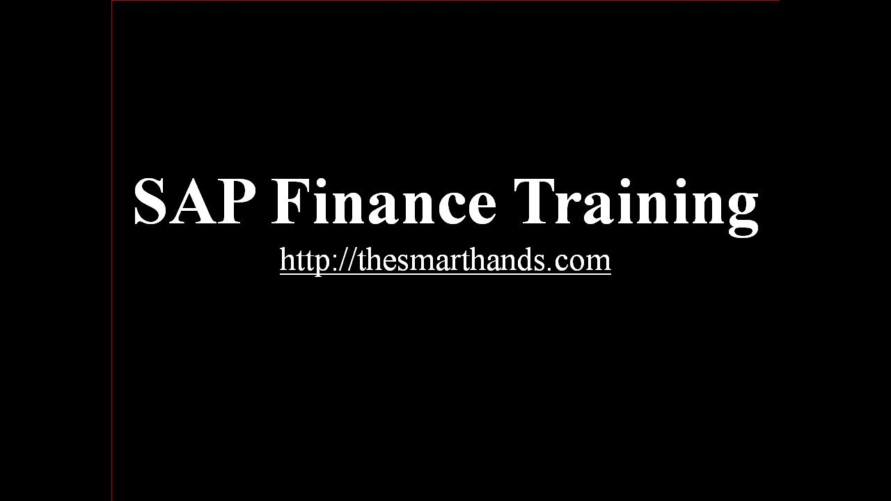 SAP Finance Training - Introduction to SAP Finance (Video 1)