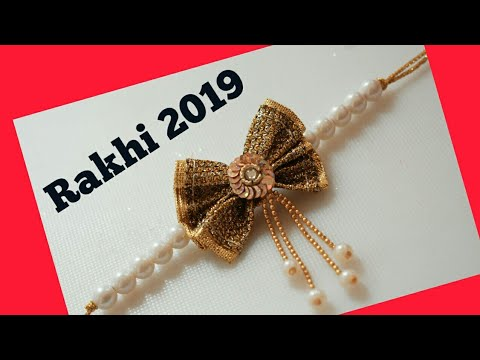 Latest rakhi design || Rakhi making at home || Rakshabandhan 2019