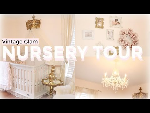 Nursery Tour 2017 + Organization Ideas   Blush & Gold   Vintage Glam