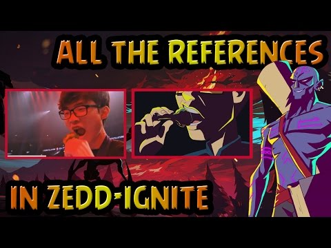 "ALL THE REFERENCES AND EASTER EGGS IN ""ZEDD - IGNITE"""