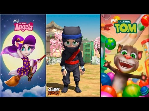 My Talking Tom vs My Talking Angela vs Clumsy Ninja Android Gameplay