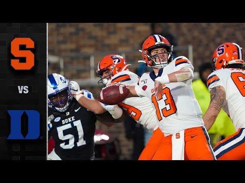Syracuse Vs. Duke Football Highlights (2019-20)