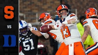 Syracuse vs. Duke Football Highlights (2019-20)