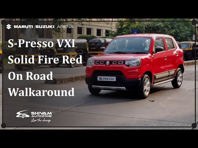 New S-Presso VXI AMT - Solid Fire Red | Interior & Exterior