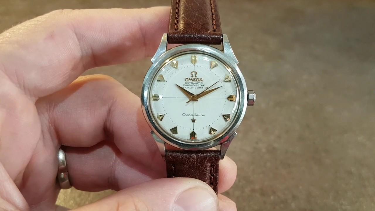 52f19bf835b 1954 Omega Constellation chronometre bumper automatic vintage watch ...