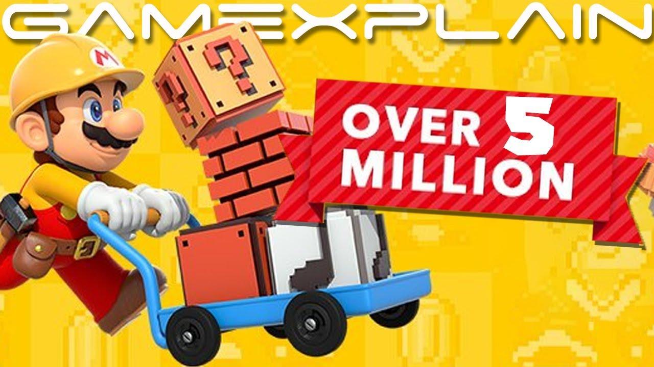 Over 5 million Levels Uploaded to Super Mario Maker 2
