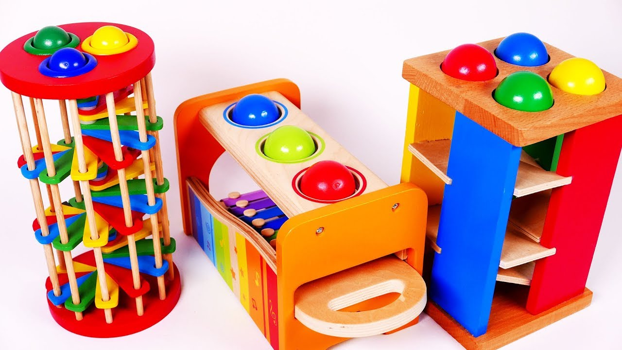 5fd4d42d173c Ball Pounding Table for Preschool Learn Colors with Toys for Children