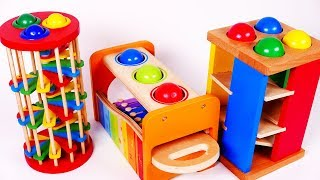 Ball Pounding Table for Preschool Learn Colors with Toys for Children