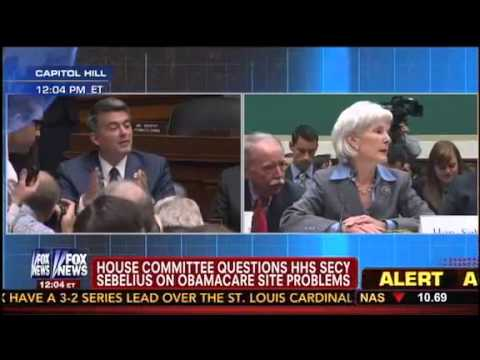 GOP Rep. Cory Gardner Tears Into Sebelius: