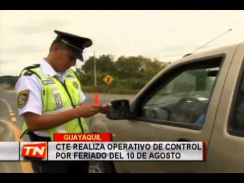 CTE realiza operativo de control por feriado del 10 de agosto