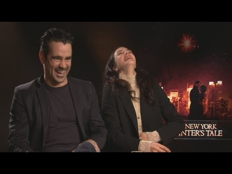 A New York Winter's Tale: Colin Farrell jokes about 'getting his leg over' during interview