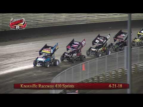 Knoxville Raceway 410 Highlights- April 21, 2018
