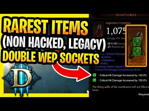 Rarest Items In Diablo 3 (Legacy Items, Which Can NEVER Drop Again That Could Be Viable In 2019)