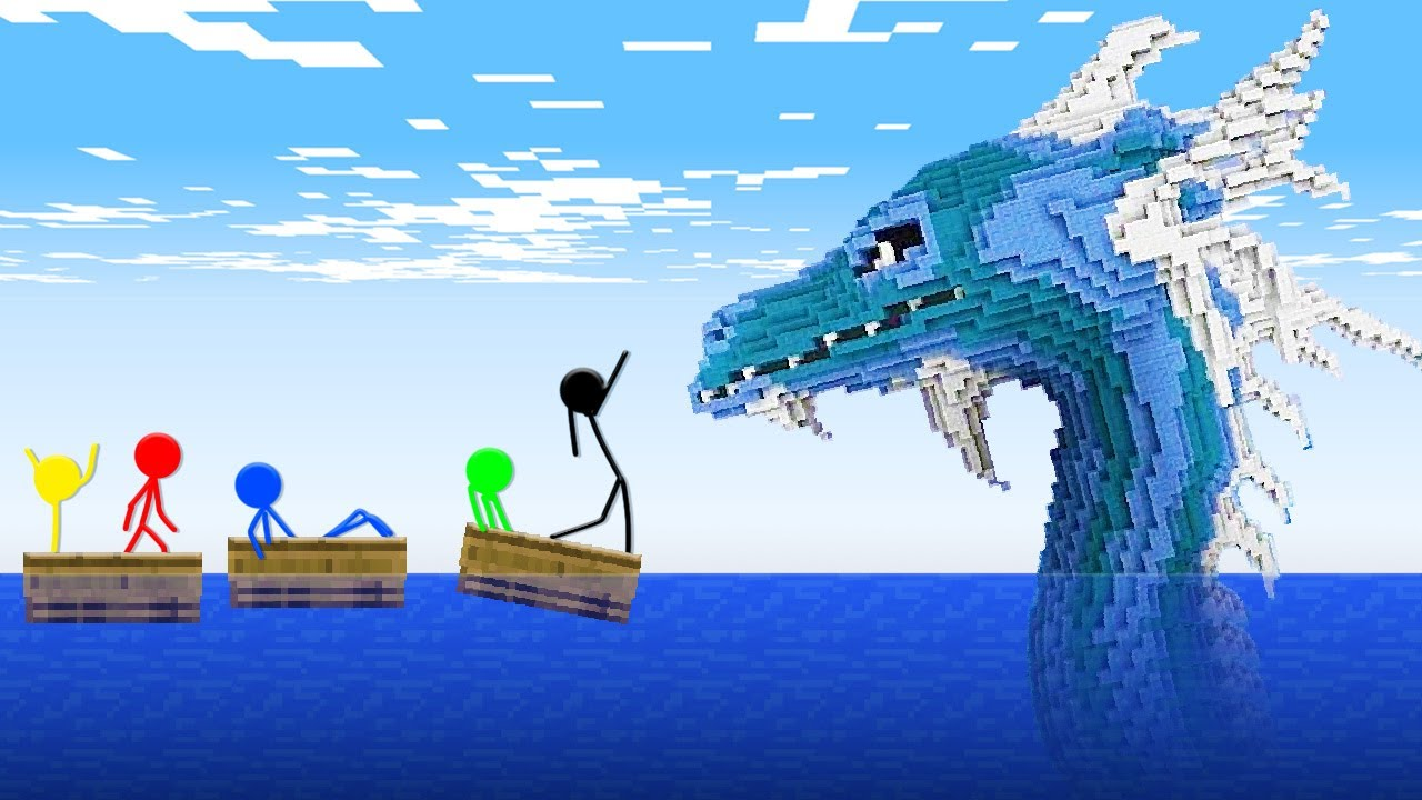 Stickman VS Minecraft: Sea Monster Apocalypse - AVM Shorts Animation
