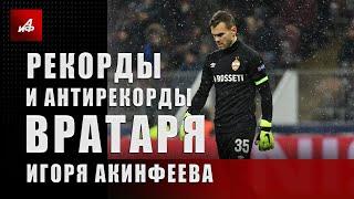 Рекорды и антирекорды вратаря Игоря Акинфеева