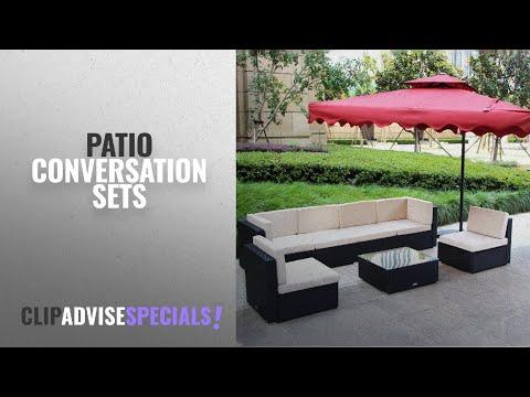 Metal patio furniture conversation sets