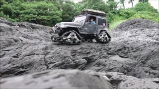 Repeat youtube video Tamiya CC01 Wrangler Yj Predator Tracks Rock Crawling in Taiwan #1