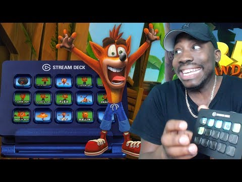 ELGATO STREAM DECK & CRASH BANDICOOT GIVEAWAY! MUST HAVE STREAMING DEVICE!