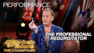 The Professional Regurgitator: Man Swallows Razor, Makes Magic - America's Got Talent: The Champions thumbnail