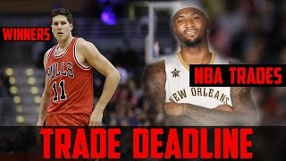 Nba trade deadline trades winners & losers - demarcus cousins pelicans chicago bulls trade - podcast