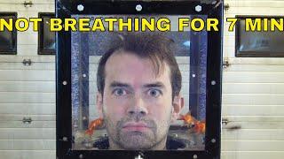 Hold breath medidation underwater
