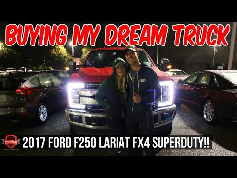 I Bought My Dream Truck!! Taking Delivery Of My 2017 Ford F250 Lariat FX4!!