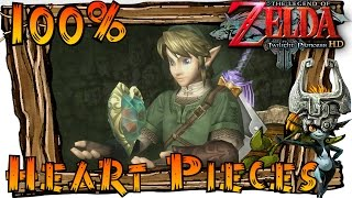 The Legend of Zelda Twilight Princess HD Wii U - All Heart Pieces (Heart Piece Locations)