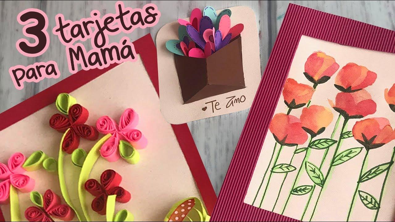 3 Tarjetas Lindas para regalar Súper Rápidas y Fáciles ud83c udf81 Mothers day DIY YouTube