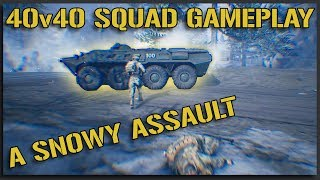 Snow Bounds (US Winter Assault) - 40v40 Squad Gameplay