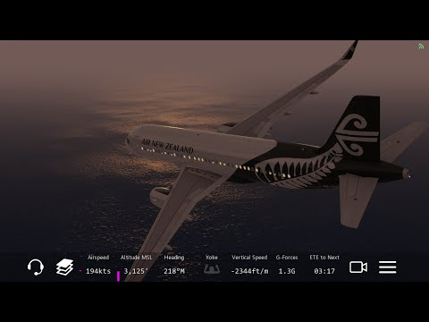 [HD] Infinite Flight Airbus A320. Multiplayer. ATC. Air New Zealand