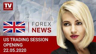 InstaForex tv news: 22.05.2020: USDX aims to close week above 100 (USDХ, DJIA, WTI, BTC/USD, USD/CAD)
