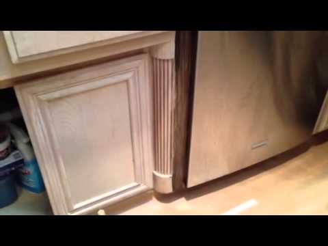 antique gel stain glaze over white wash cabinets youtube rh youtube com