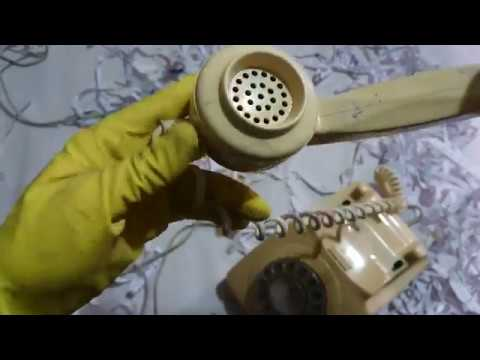 Retro Rotary Phone ASMR Unboxing and Dialling