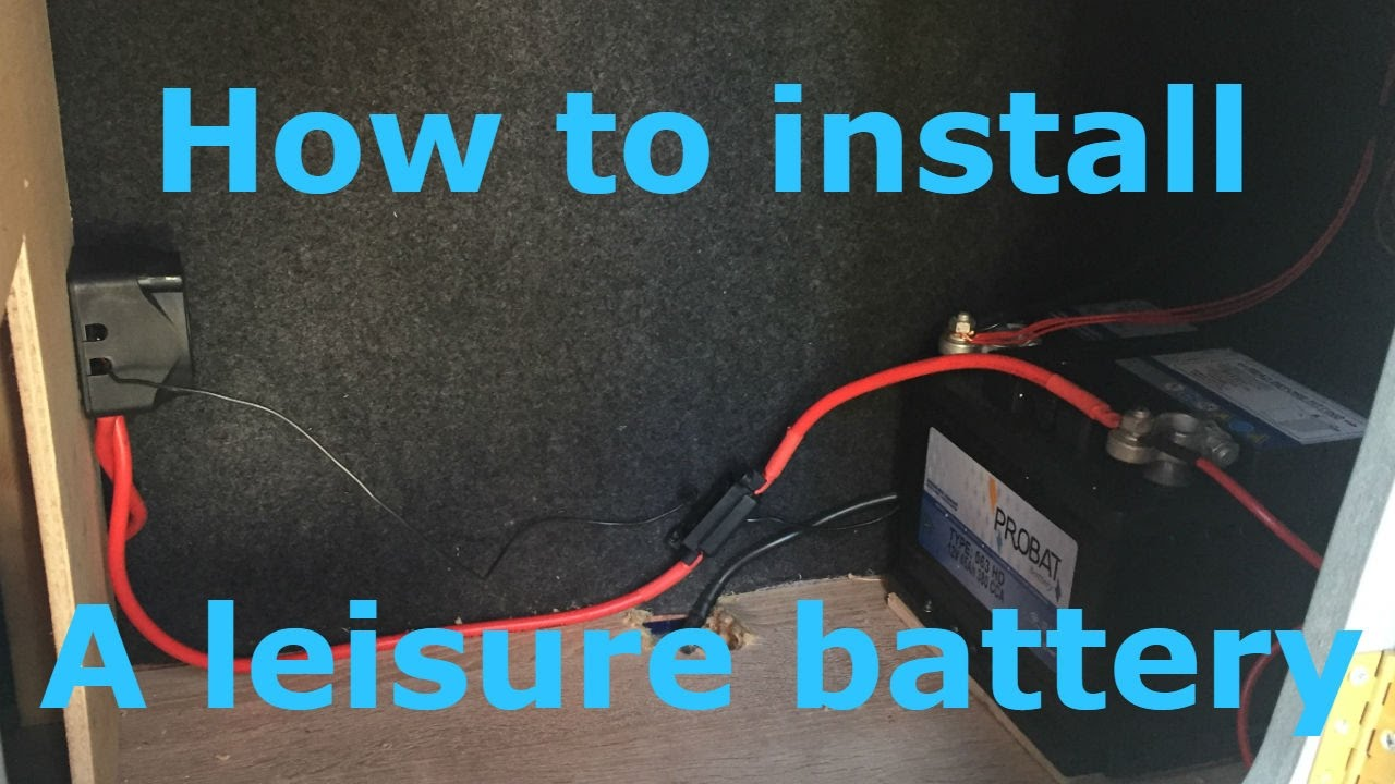 Wiring Diagram Caravan Solar Panel How To Install A Leisure Battery With Split Charging Youtube