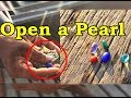 OPEN A SEASHELL WITH A PEARL INSIDE