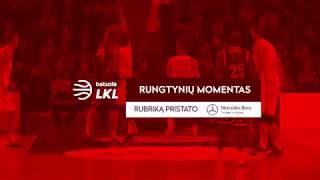 """""""Betsafe–LKL"""" rungtynių momentas: S. Sinoveco ir D. Tarolio """"žemė - oras"""" duetas"""