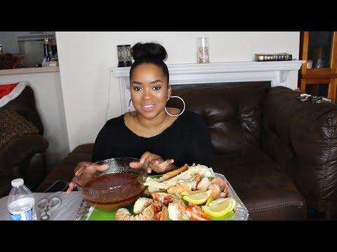 Seafood Boil Mukbang w/Bloves Sauce | King Crab, Lobster, Shrimp| Terria Lewis