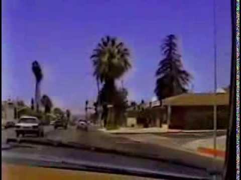Vintage Footage of Drive Down Florida Ave, Highway 74, Hemet Ca. 1989.