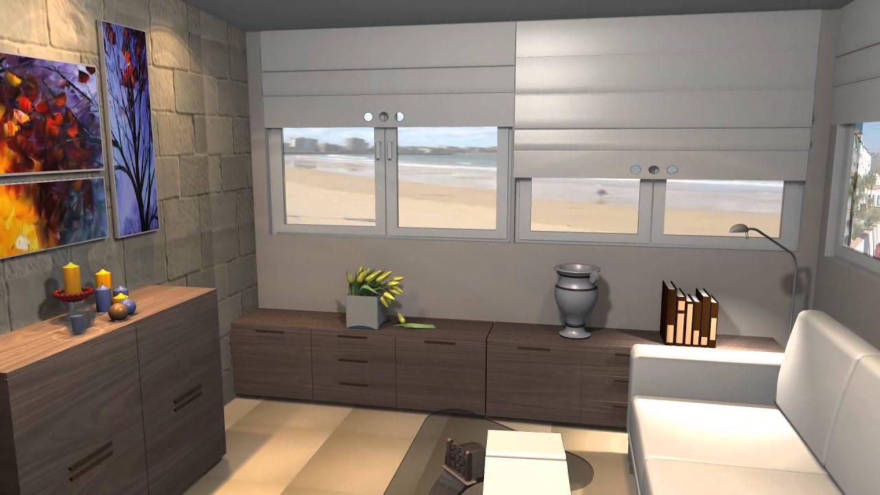 Dise o de habitaci n salita en la terraza de un for Diseno de apartamento de una habitacion