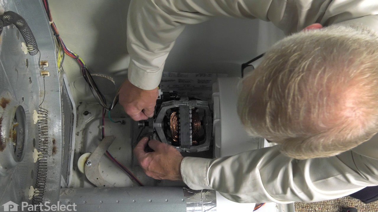 Frigidaire Dryer Repair - How to Replace the Drive Motor ... on