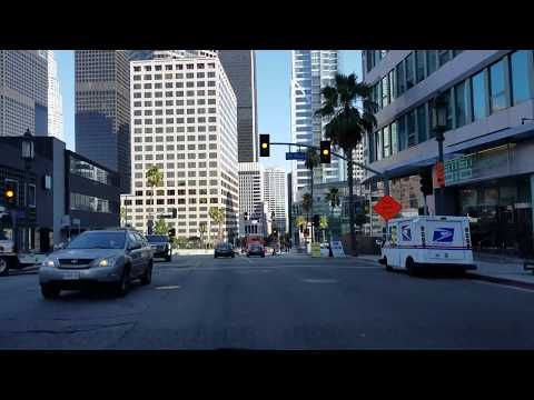 Driving Wilshire Blvd in Los Angeles, California