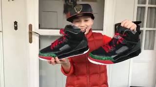 Jordan Spizike Black Red Green Unboxing (live surprise)