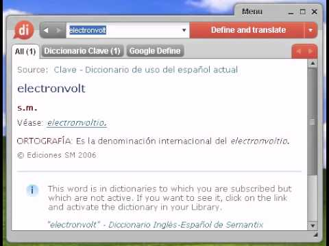 Definición de electronvolt