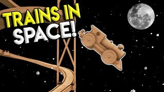 BIGGEST TRAIN DROP EVER & GOING TO SPACE?!?! - Tracks- The Train Set Game Gameplay- Stunts & Crashes