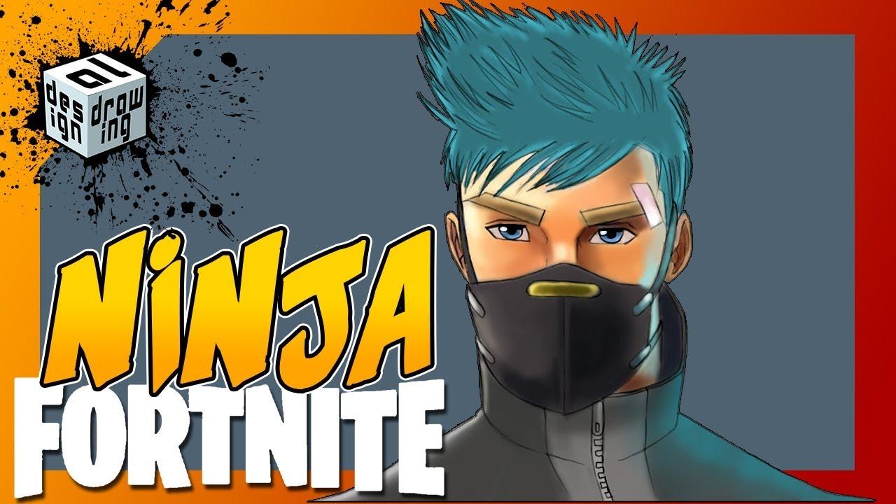 Dessin speed painting fortnite ninja version nomade - Dessiner un ninja ...