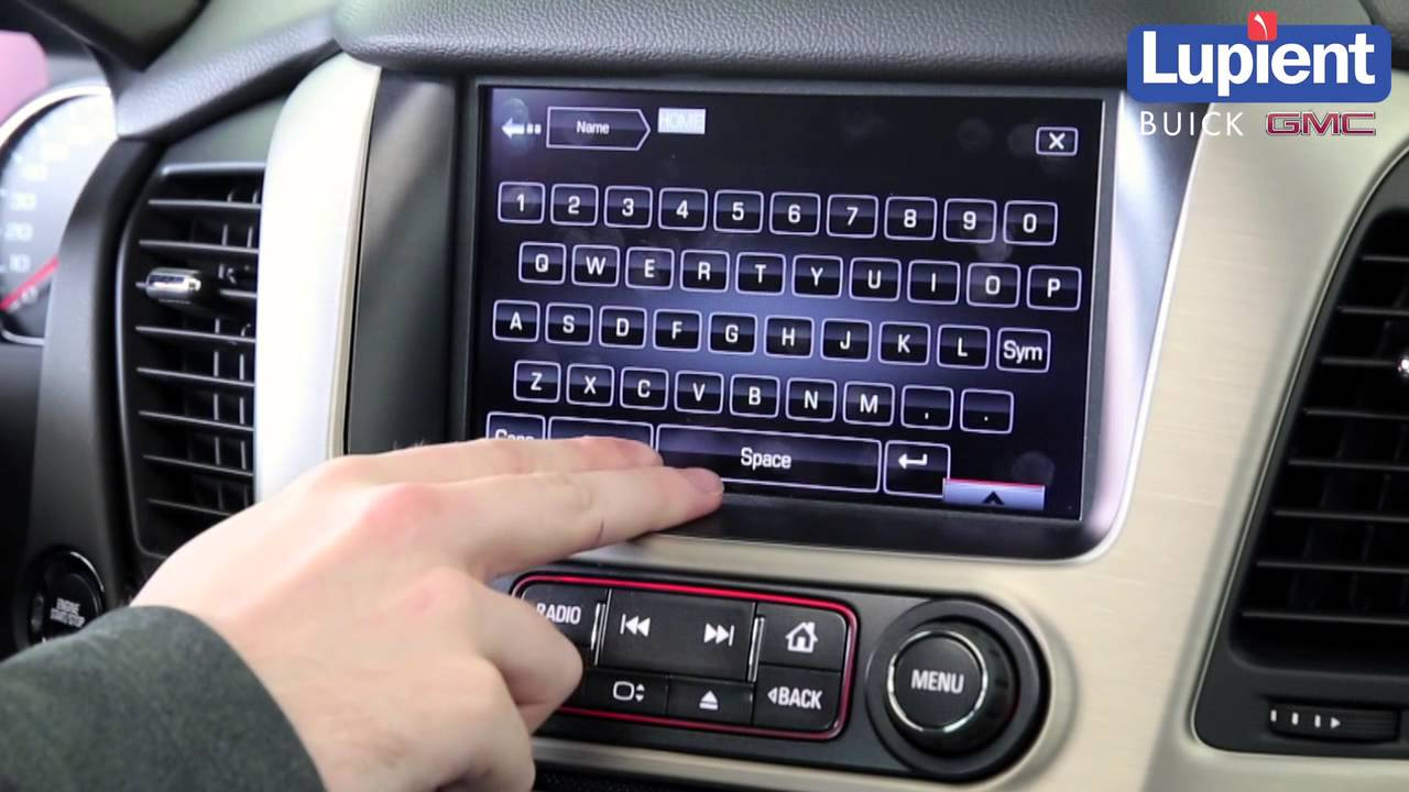 How To Set Home Address In Buick Gmc Intellilink Navigation