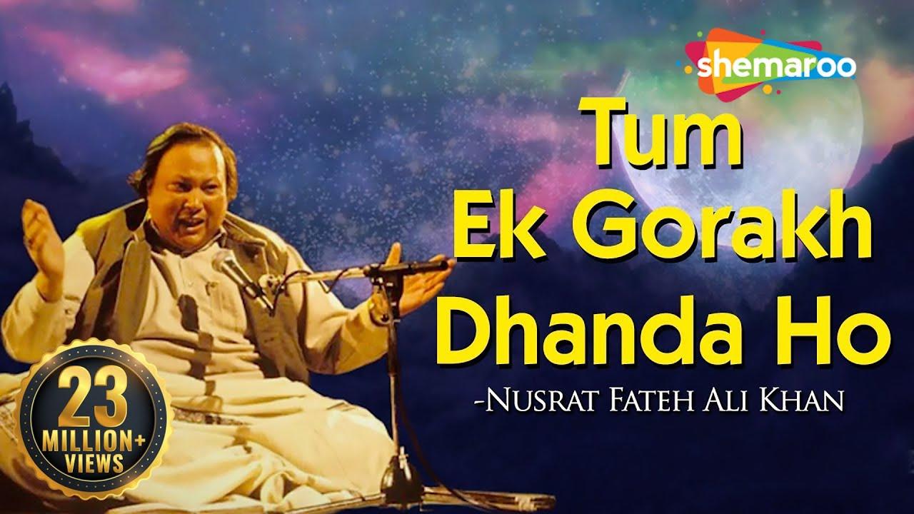 Download Tum Ek Gorakh Dhanda Ho with Lyrics - Nusrat Fateh Ali Khan - Popular Qawwali 2018  Sajda