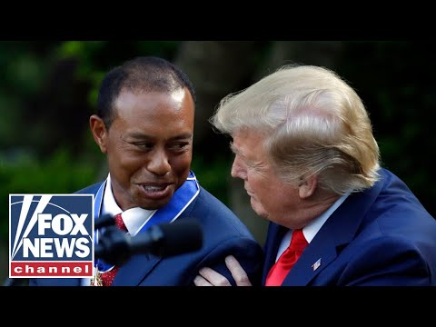 Steve Knoll - Tiger Woods Receives Presidential Medal of Freedom