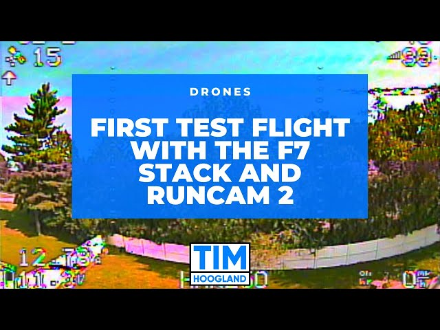 First Test Flight with the F7 Stack and Runcam 2 | Drones